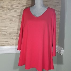 Avenue Red Long Sleeve Tunic Plus Size 18/20 New